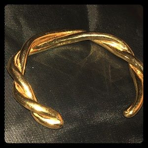 Heavy Gold Tone Metal J. Crew Bracelet